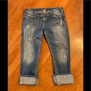 Silver jeans Tuesday Capri W 31
